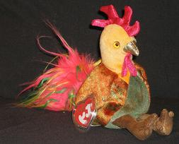 ZODIAC ROOSTER  Ty Beanie Baby MINT WITH MINT TAGS